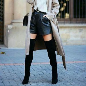 🔥2 LEFT🔥Black Suede Thigh High Platform Boots